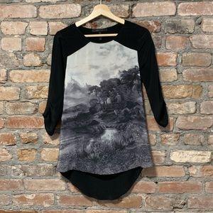 BCBGMaxAzria open back blouse
